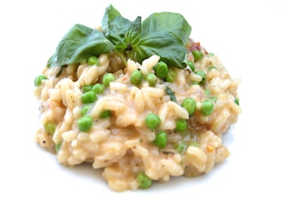 Pea and Sundried Tomato Risotto