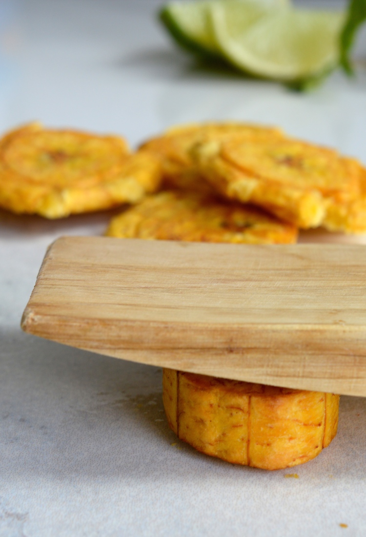 Tostones With Mint Chimichurri Sauce