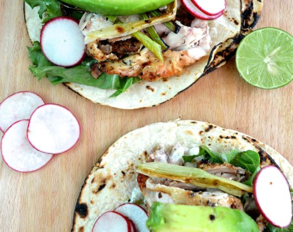 Grilled Cornish Hen Tacos With Charred Green Onions And Creamy Avocado