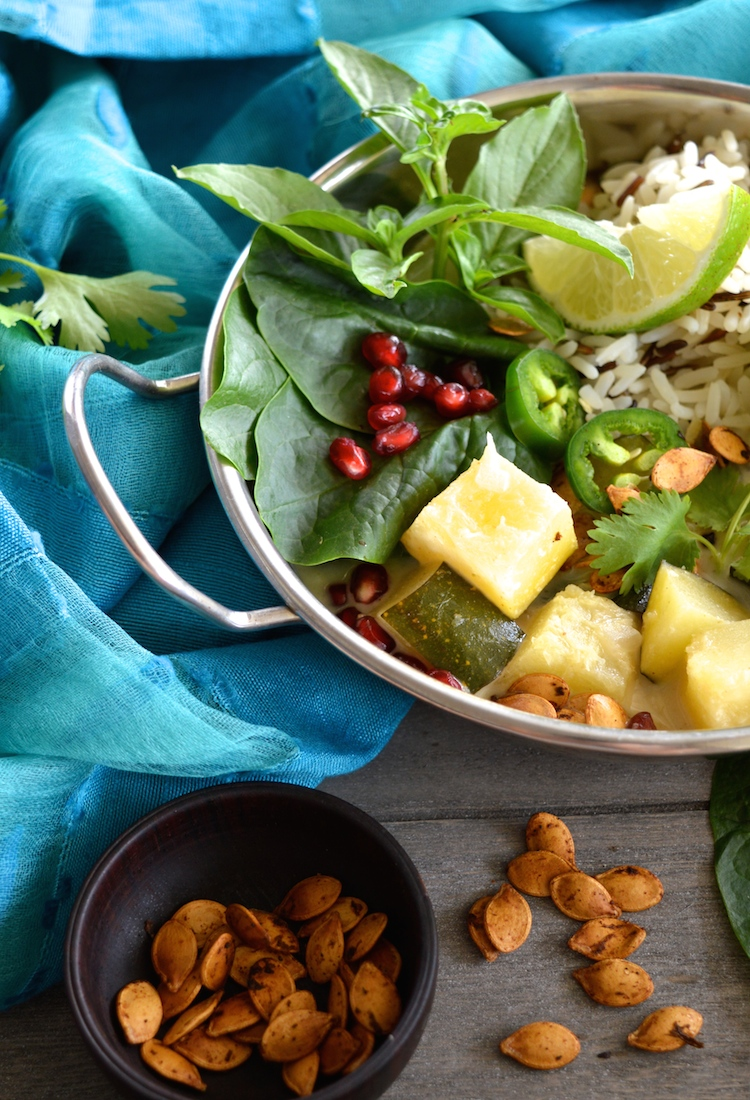 Vegan Thai Acorn Squash Green Curry With Lemongrass Wild Rice